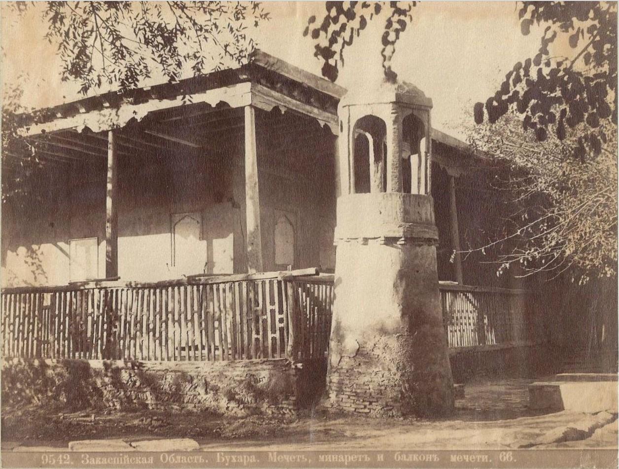 Мечеть, минарет и балкон мечети
