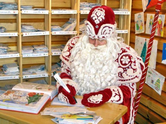 Открытки. День рождения Дедушки Мороза. Дед Мороз отвечает на письма ребят открытки фото рисунки картинки поздравления