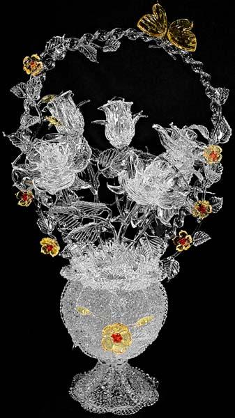 День работника стекольной промышленности. Цветы в вазе