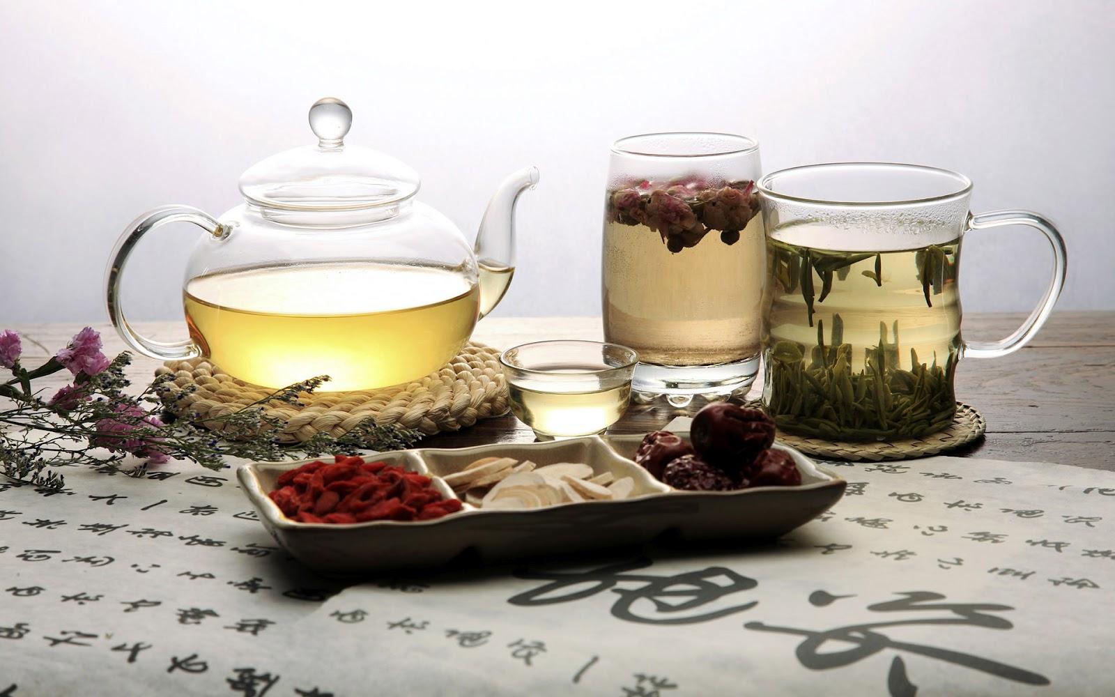 Открытки. Международный день чая. Чай в чашках