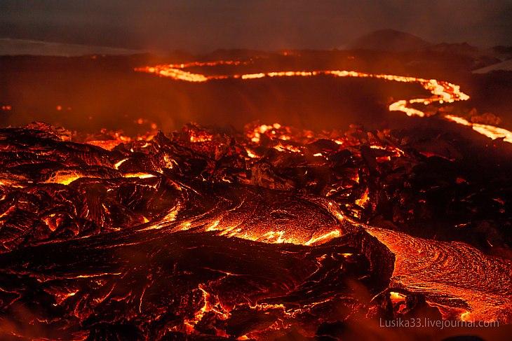 Извержение вулкана Толбачик на Камчатке. (42 фото)