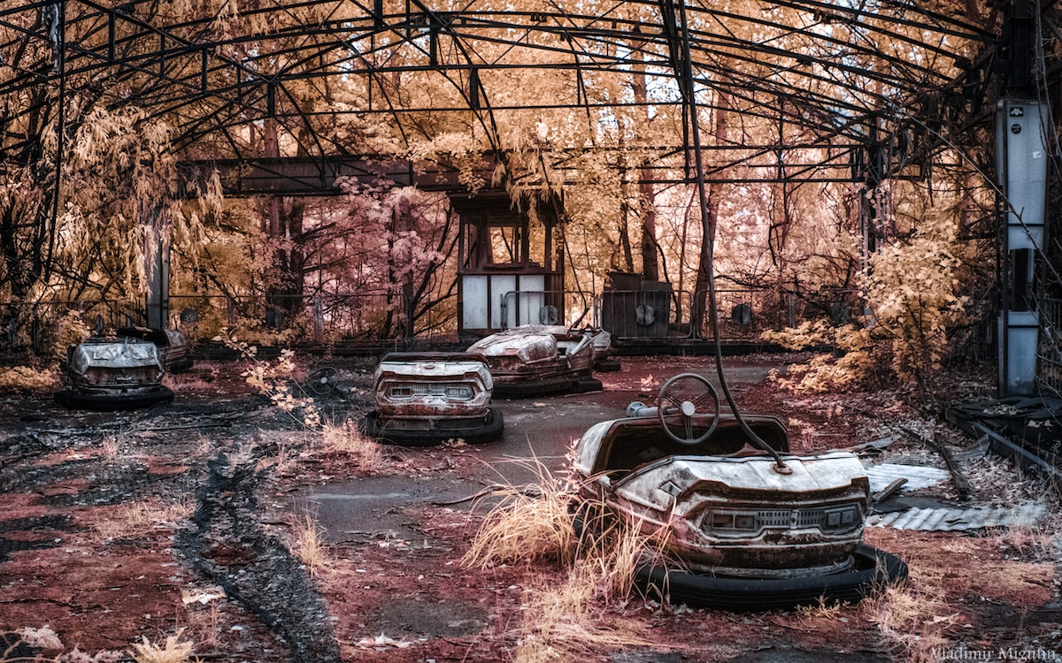Chernobyl Captured in Infrared