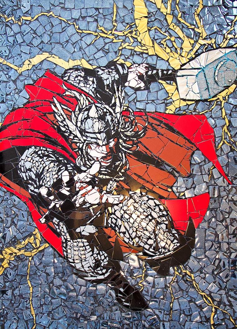 Amazing mosaic portraits of Superheroes