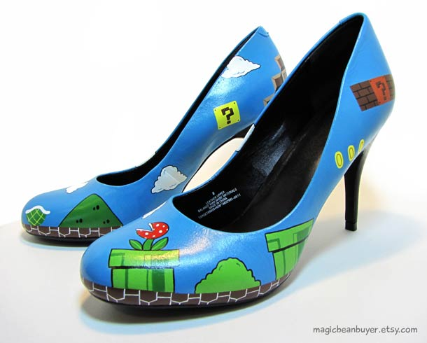 Mario Bros. High Heels for Geeky Girls!