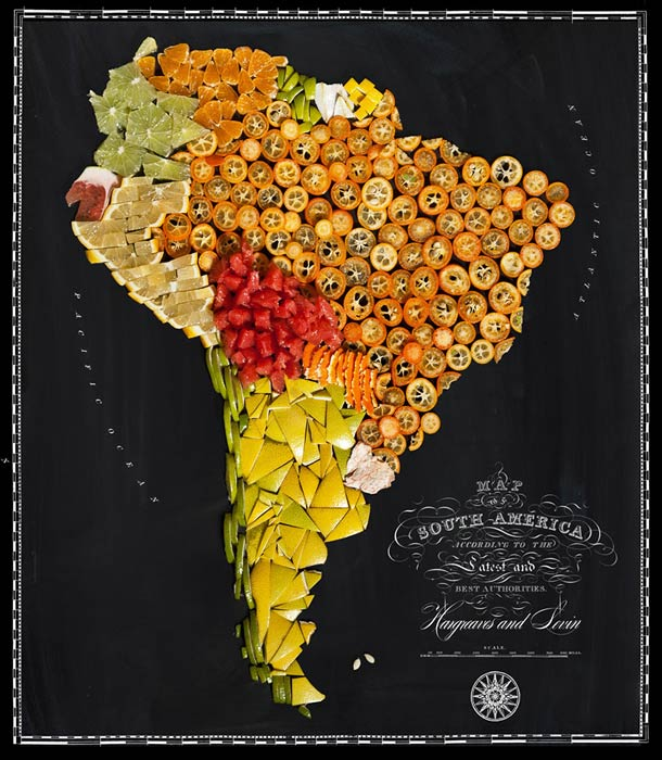 FOOD MAPS – The world seen through the origin of foods (11 pics)