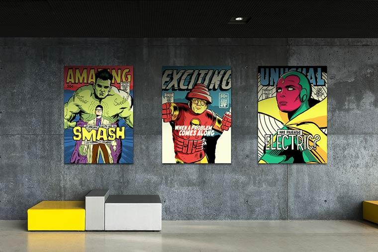 Post-Punk version of Marvel superheroes