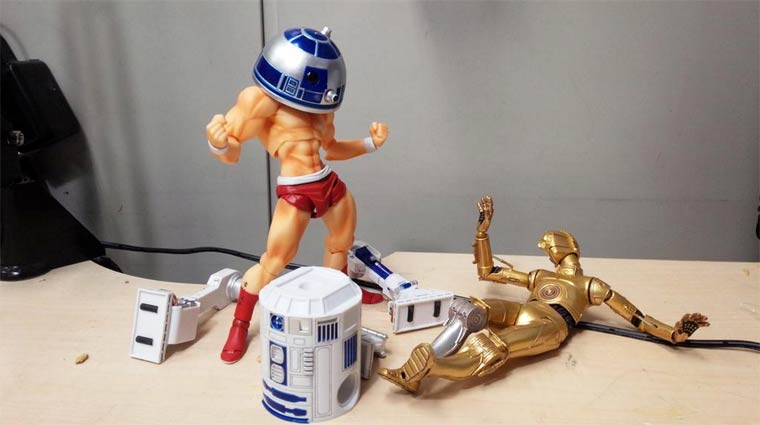 When you are mixing the Star Wars figurines