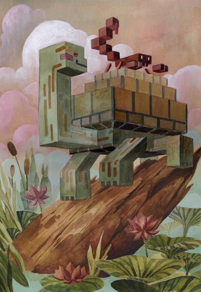 Pixel Animal Series - Paintings - Laura Biffano