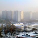 Утренний зимний туман в Солнцево