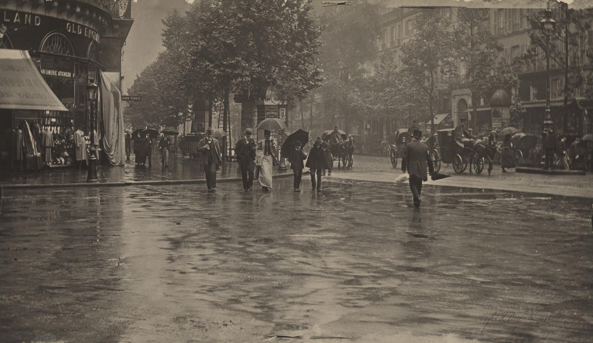 1894. В дождливый день на бульваре, Париж