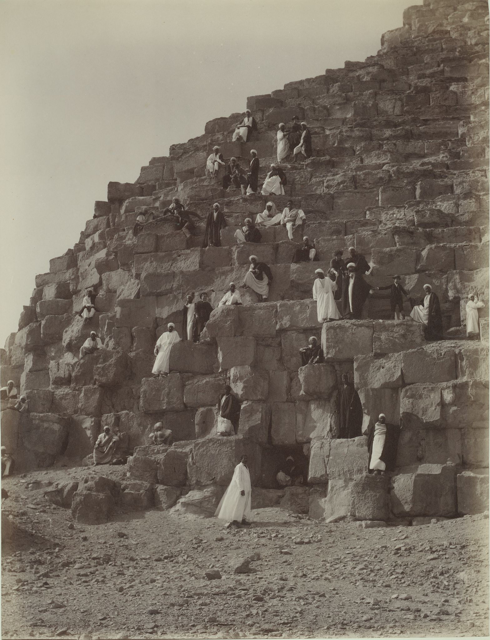Гиза. Подъем на Пирамиду Хеопса