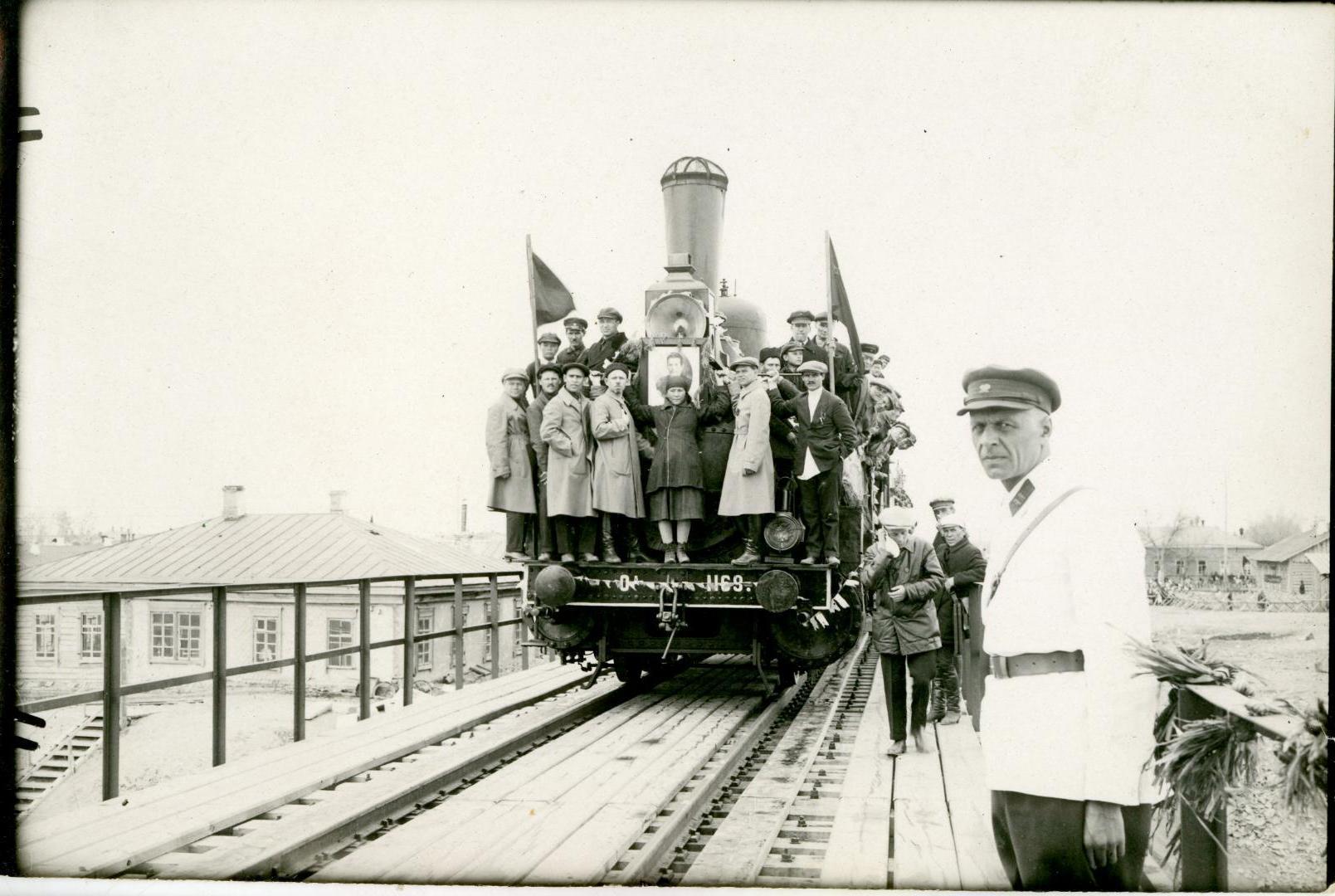 1929. Открытие моста через Иртыш. Семипалатинск, 1 мая