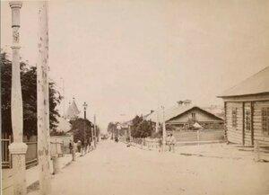 1897. Главная улица поста Корсаковский.