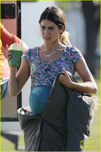 **EXCLUSIVE** Nikki Reed sports a prop baby belly as she films scenes for new movie 'Scout' in Los Angeles