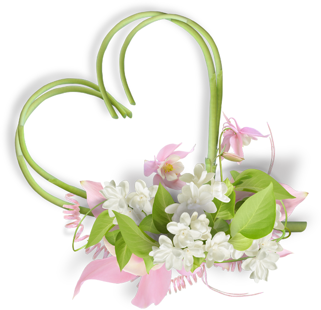 coeur en fleurs mariage