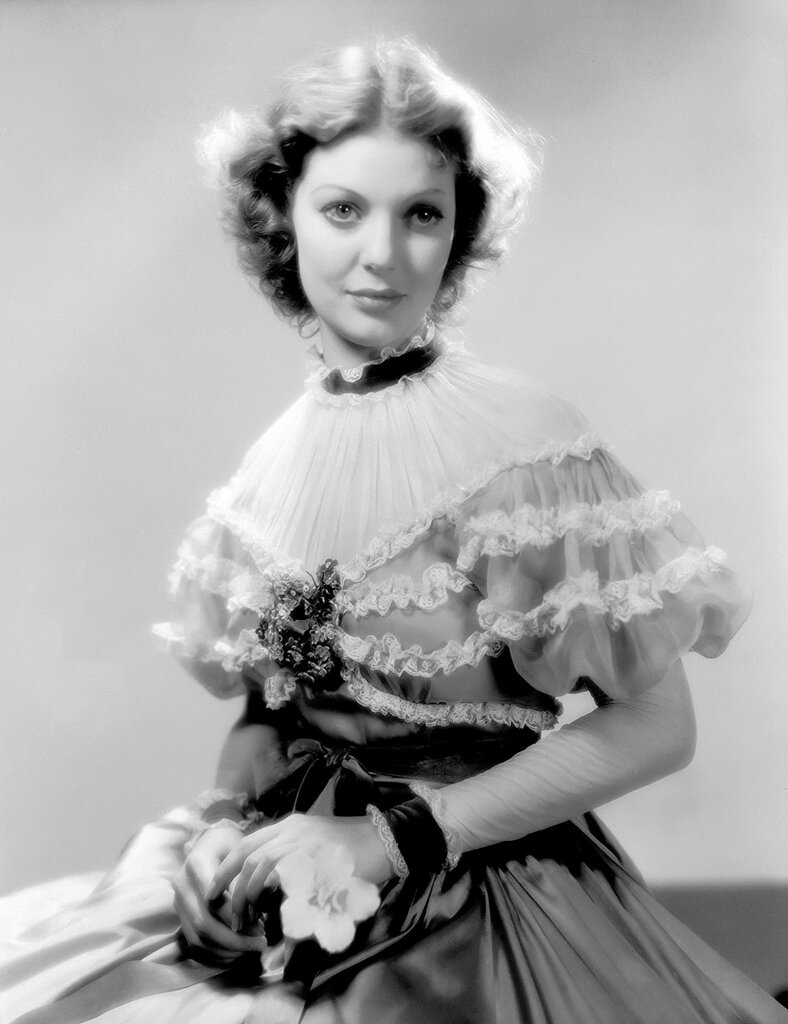 circa 1935: American actress Loretta Young (1913 - 2000) wearing period dress for her role in 'Caravan'.