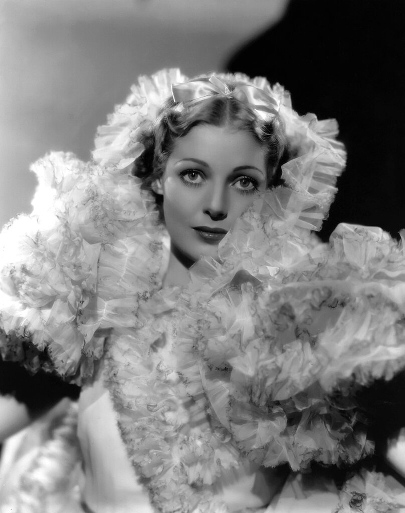 1934: American actress Loretta Young (1913 - 2000) wearing a frothy costume designed for her role in the Fox film 'Caravan', directed by Erik Charell.