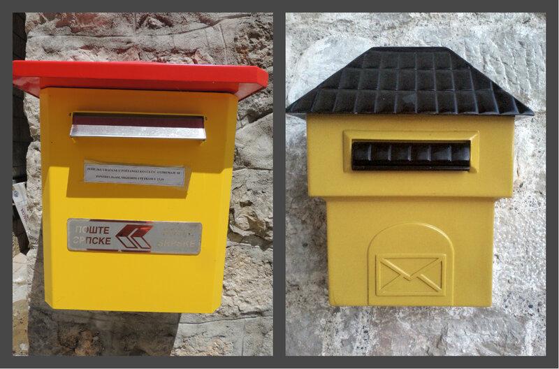 почтовые ящики в Требинье и Мостаре