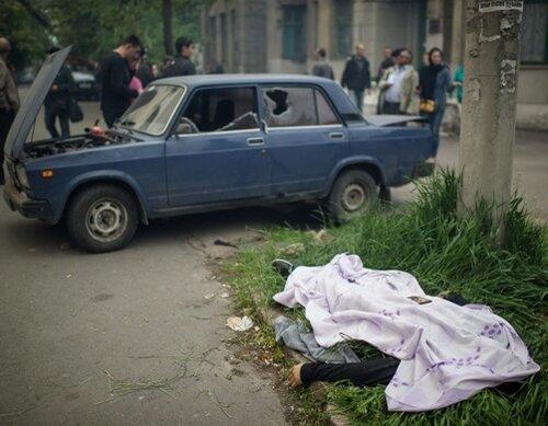 Мариуполь, 9 мая,убитый мирный житель