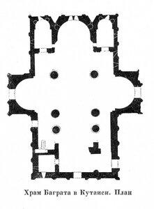 Храм Баграта в Кутаиси, план