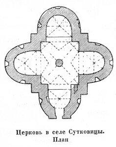 Церковь в селе Сутковицы, план