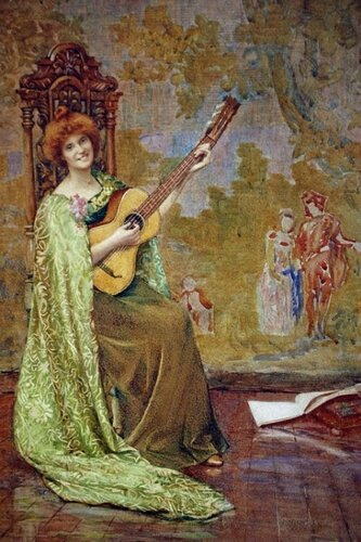 Henry Meynell Rheam  The Guitar Player