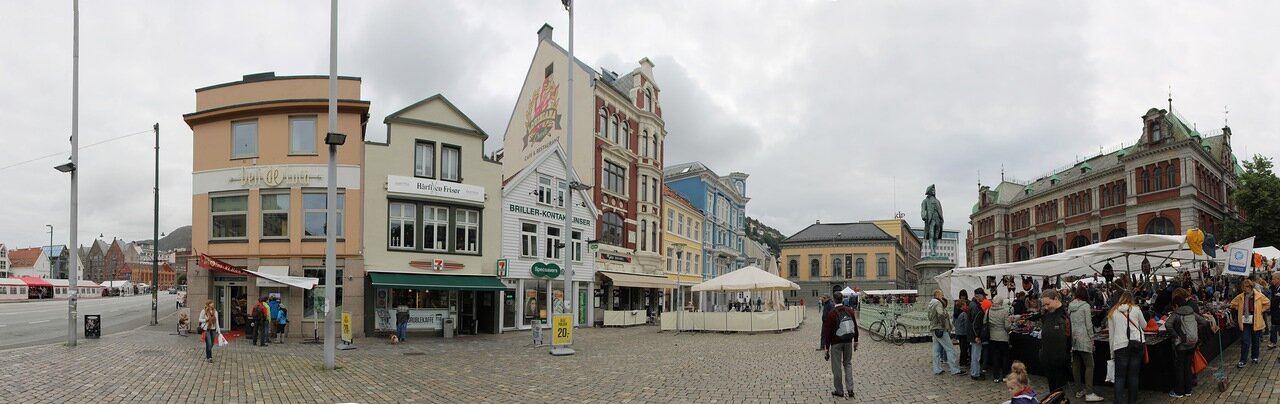 Bergen, Vågsallmenningen, Берген, площадь Вагсальменнинген,