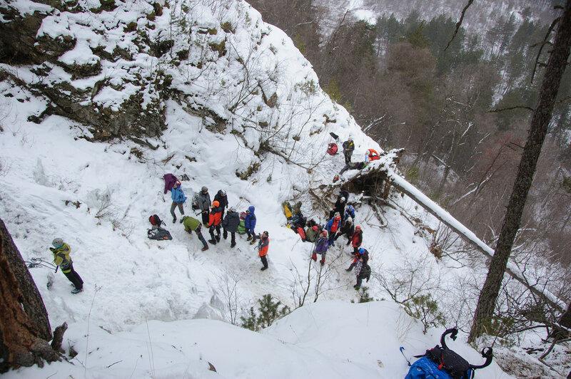 Ледолазание в Баксанском ущелье, январь 2016