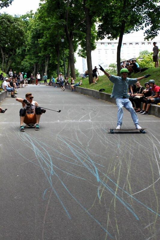 Удачный финиш скейтбордиста