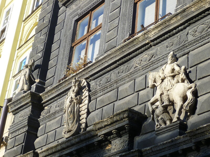 Украшения на зданиях во Львове, Украина (The decorations on the buildings in Lviv, Ukraine).