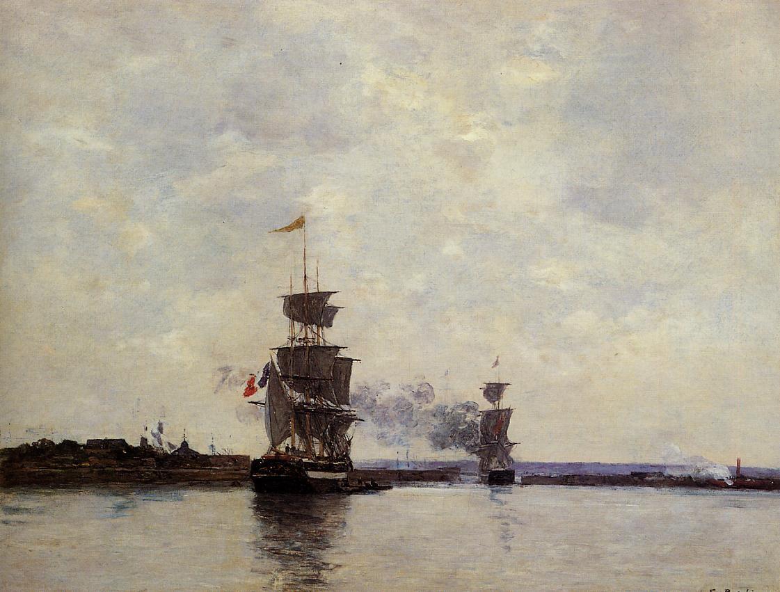 Эжен Луи Буден, Гавр, На внешнем рейде, 1865