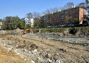 Cтроительство сквера на улице Овчинникова во Владивостоке планируют завершить к апрелю