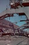 1943-03-22 Взрыва ущерб. Поврежденный кран Jtksaaressa. Хельсинки 22.3.1943. Примечание: В черно-белое изображение SA 125056. Место: Хельсинки