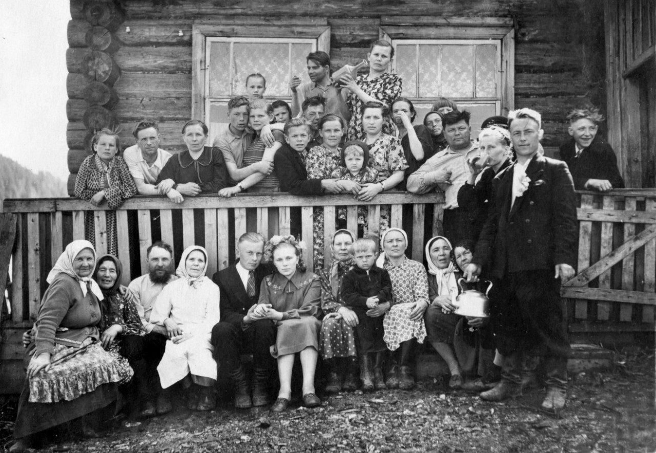 1957 год. Свадьба в деревне Дегтярка.