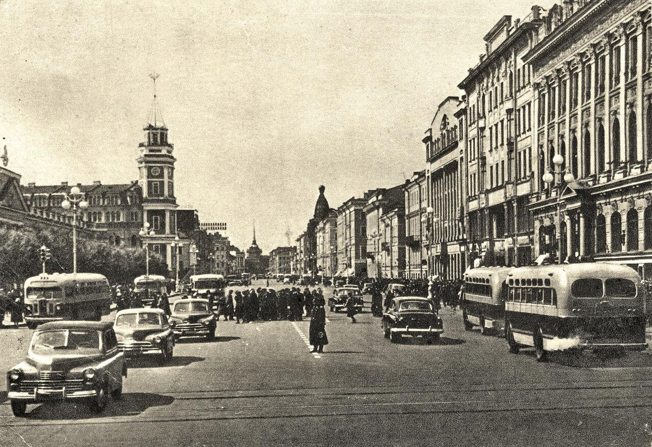 Невский проспект 1955 год.