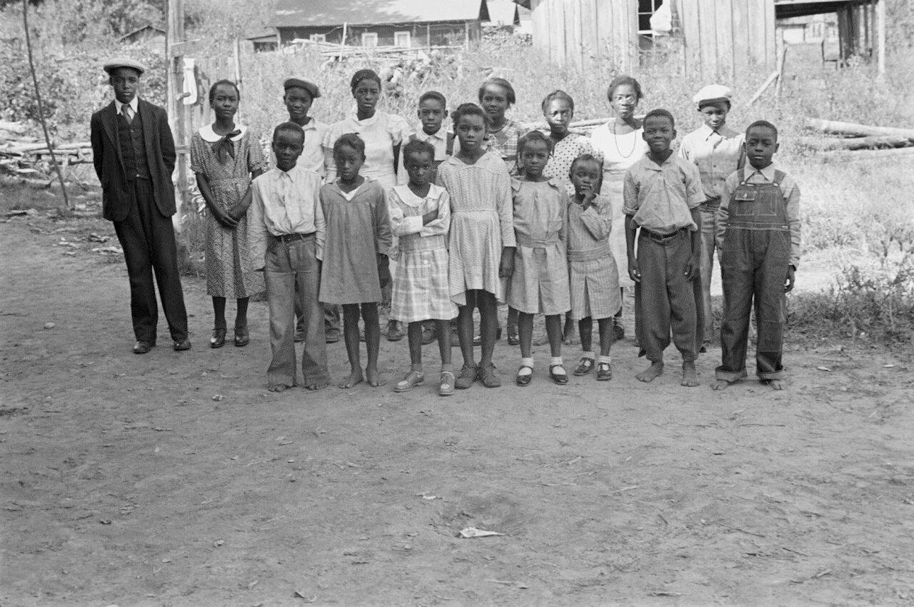 Дети черных арендаторов-испольщиков, Литл Рок, Арканзас, 1935