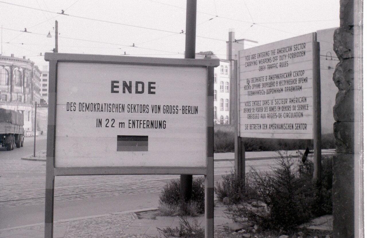 9 сентября 1959. Пересечение границы в районе Советского проспекта, Берлин