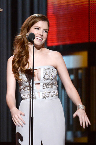 LOS ANGELES, CA - JANUARY 26: Actress Anna Kendrick onstage during the 56th GRAMMY Awards at Staples Center on January 26, 2014 in Los Angeles, California. (Photo by Kevork Djansezian/Getty Images)