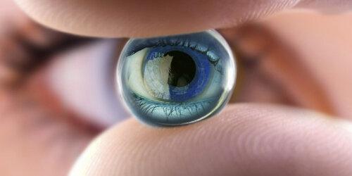 На смену плазменных телевизоров придут контактные линзы
