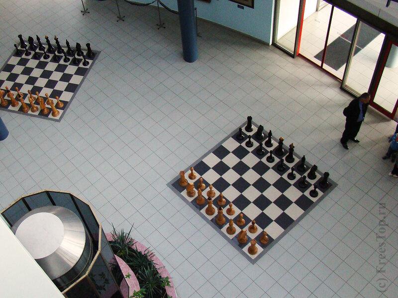 Шахматный пол в музее шахмат г. Элиста