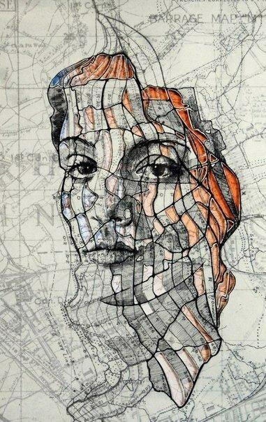 Портреты на картах от британского художника Эда Файрберна