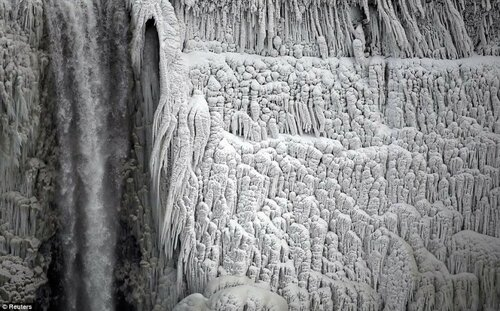 Впервые за 100 лет замерзла Ниагара