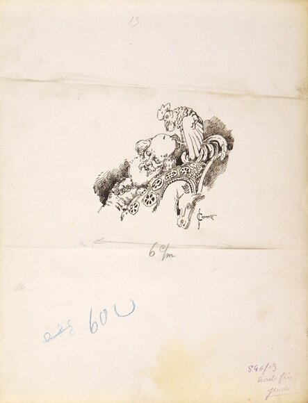 Соломко Сергей Сергеевич (1867-1928) 13 иллюстраций к произведению А.С.Пушкина «Сказка о Золотом петушке». 1925 г. Бумага, графитный карандаш, перо, тушь, белила