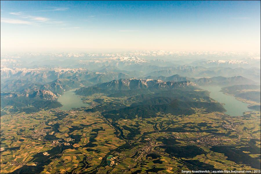 Альпы с высоты 10 тысяч метров