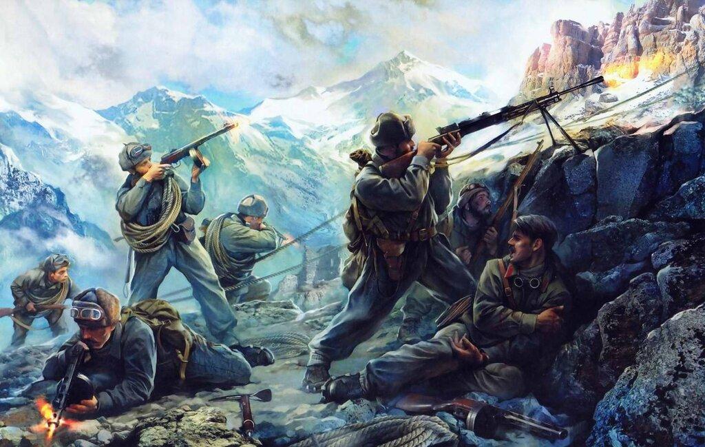 Советские горные стрелки (Иван Хивренко)