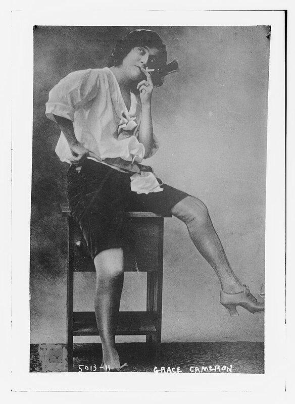 Grace Cameron wearing short pants and smoking
