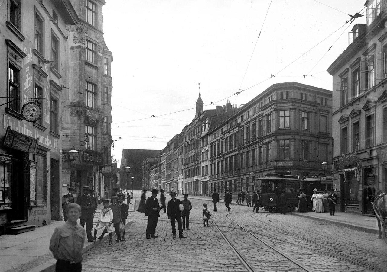 Vorstädtische Langgasse.1890 годы