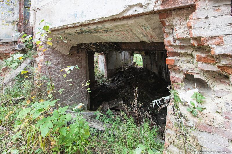 Остатки парадной лестницы Усадьбв Колосово
