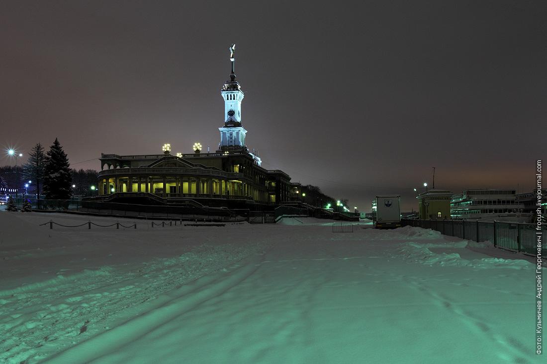 причалы СРВ ночное зимнее фото