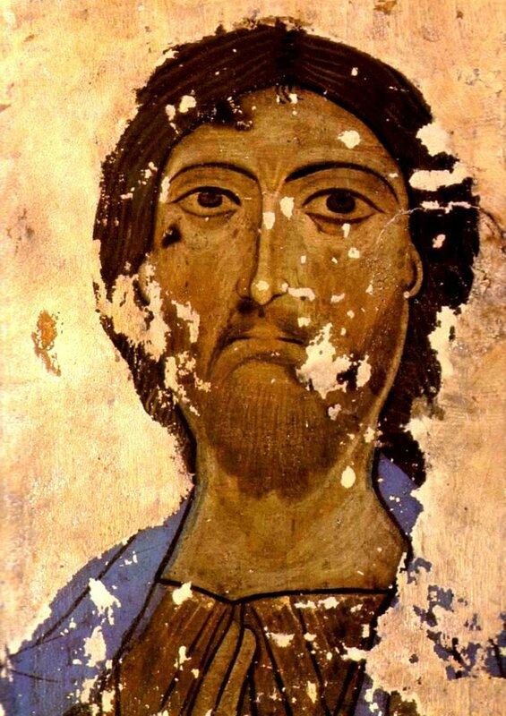 Лик Спасителя. Грузия, XII - XIII века.